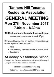 General Meeting Poster 27th November 2017